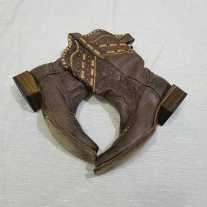 Corral Square Toe Brown Western Boots SZ 8